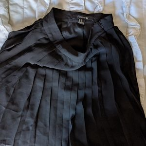 Bundle of two black pleated skirts XS